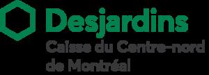 Logo. Desjardins. Caisse du Centre-nord de Montréal.